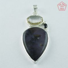 CLASSIC MULTI STONE 925 STERLING SILVER PENDANT PN4779 #SilvexImagesIndiaPvtLtd #Pendant
