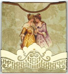 """""""This is a pocket I have made to put on a page in a flip album I am making. The image of the two ladies is of course from Lunagirl. Victorian Pictures, Two Ladies, Stamp Pad, Vintage Images, Altered Art, Digital Scrapbooking, My Design, Two By Two, Aurora Sleeping Beauty"""