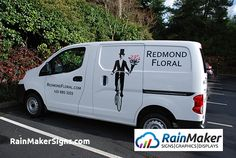 04013f61c5 A cost-effective and unique vehicle graphics Nissan van for a top 500 FTD  florist.