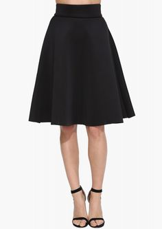 Refined Love Skirt in Black Scuba