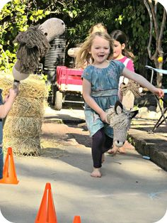Western Party Games - We set up a little obstacle course out of hay bales and cones, and let the kids race as long as they wanted.
