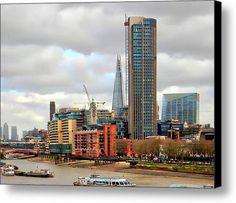 South Bank River Thames London Canvas Print / Canvas Art By Dorothy Berry-Lound #thames #london  #interiordecor #printforsale
