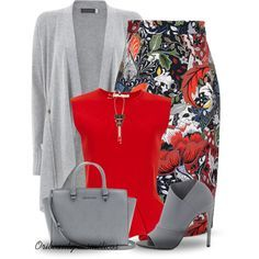 """""""Grey & Red"""" by oribeauty-cosmeticos on Polyvore"""