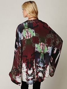 One Teaspoon Arizona Silk Kimono-beautiful silk. $368