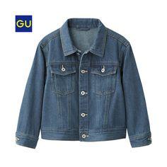 (GU)GIRLSビッグデニムジャケット  ¥1,990 +消費税  商品番号:282562  カラー:67 BLUE  150
