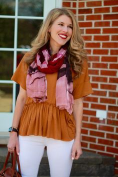 Peplum Top with Blush Wedges & Confident Twosday Linkup