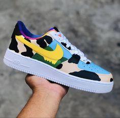 Cute Nike Shoes, Cute Nikes, Nike Air Shoes, Sneakers Nike, Custom Jordans, Custom Sneakers, Custom Shoes, Painted Sneakers, Painted Shoes