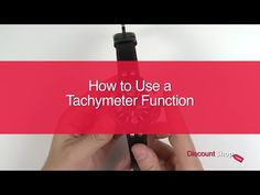 """Dave shows you HOW TO: Use a Tachymeter Function  www.discountshop.com - RETAIL…"