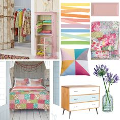 Vintage pastel bedroom - Pastels are really having a moment right now! Deck out your bedroom in pretty pinks and blues and mix in some vintage pieces to get the look. Dream Bedroom, Girls Bedroom, Bedrooms, Bold Colors, Colours, Pastel Bedroom, Love Home, Princesses, Pastels