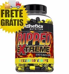 ripped extreme yellow caps 120cápsulas - atlhetica nutrition