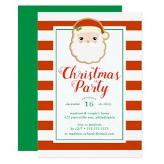 Christmas Party | Santa Claus Christmas Cookie Card - Xmas ChristmasEve Christmas Eve Christmas merry xmas family kids gifts holidays Santa