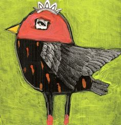 """""""Bayberry"""" mixed media #bird by Foust"""