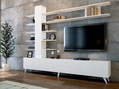 TOWER white entertainment unit