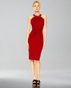 This dress is on sale at 24% of its original price. Twist-Front Halter Dress by Michael Kors at Neiman Marcus.
