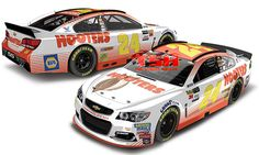 2017 CHASE ELLIOTT #24 HOOTERS SPECIAL PAINT SCHEME
