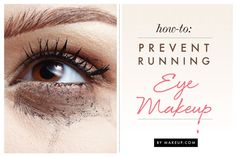 how to keep eye makeup from running // so helpful for the hot weather! #tips #tricks #summer