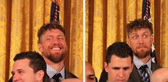 When the POTUS name drops Hunter Pence signs