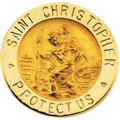St. Christopher Lapel Pin in 14k Yellow Gold >>> Learn more by visiting the image link. (This is an Amazon Affiliate link and I receive a commission for the sales)