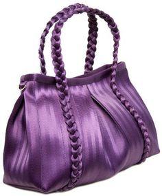 Harveys Seatbelt Tote Bags - Sophia Tote Bag in Mulberry Purple.