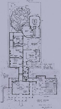 Ken Anderson's layout for a walk-through Disneyland Haunted Mansion.