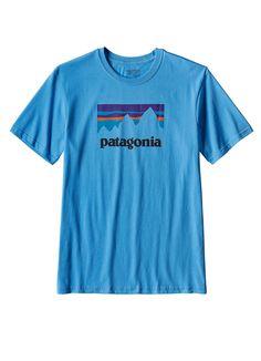 Shop Sticker Cotton Tee in Radar Blue by Patagonia