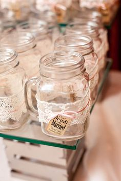 Mason Jar Mugs The Eat Drink And Be Married Tag Is Too