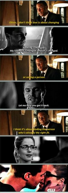 Diggle is too wise for life #Arrow #Olicity