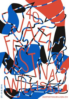 Balancing a fine line between tradition and pastiche, Annik Troxler embodies the contemporary Swiss designer. Yet there's something slightly unhinged about Troxler's designs that forces you to look twice. Her posters for an obscure jazz festival in remote Switzerland exemplify her spirited, whimsica