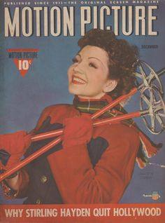 Claudette Colbert on the December 1941 Motion Picture