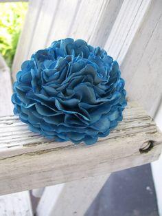 Large Blue Carnation Paper Flower  Rose  Ranunculus by PoshStudios, $4.00