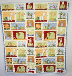 292090 - Baby Quilt - Baby Quilts - Baby Quilt Blanket - Infant Quilt - Crib Quilt - Boy Crib Quilt - Safari Quilt - Baby Crib Quilts - product images  of