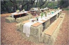 hay bale decor for weddings - Google Search