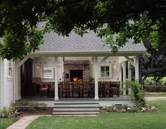 """Not a new idea! This """"porch"""" was built in 1850! The brick fireplace was added in the 1930's.  It is a part of the Fred MacMurray Ranch."""