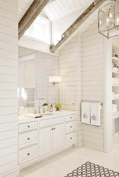 All White Bathroom beach house bathroom | pinterest: @blancazh | beach living