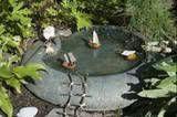 miniature Lake with walnut shell Sail Boats photo miniatureboats.jpg