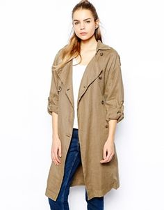 Selected Tenne Trench Coat in Linen