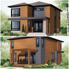 50 Amazing Minimalist Exterior House Design On A Budget Minimalist House Design, Minimalist Home, Modern House Design, Modern Architecture House, Architecture Design, Dream Home Design, Modern House Plans, Facade House, Little Houses