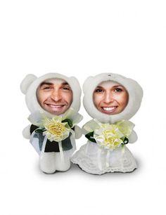Der etwas andere #Bilderrahmen für Paare: Eisbären, Variante #Hochzeit! #wedding #Hochzeitsdeko #Foto