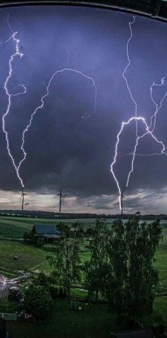 Multiple lightning strike Germany