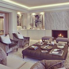 Master fireplace wall