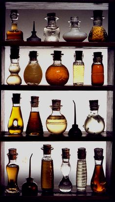 lotions, potions, oils and tinctures