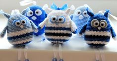 Free pattern of crochet birds and owls