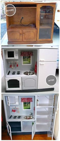 DIY---> child's kitchen....I'm pinning this for someday when I am a fun Grandma. How cute is this!