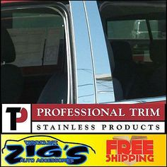Professional Trim Stainless Steel Pillar Post For 98-11 Lincoln Town Car 4pc Set #car #truck #parts #exterior #mouldings #trim #p4030