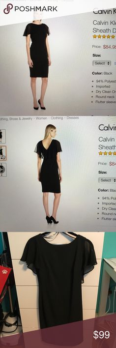Calvin Klein Dress Calvin Klein •Calvin Klein Dress 👗 •Size 2P •Black •Worn Once and Dry Cleaned •No bag or box  •No trades •15% off bundles of 2+ items 🌟 •Ships within 1-2 business days 📫 Calvin Klein Dresses