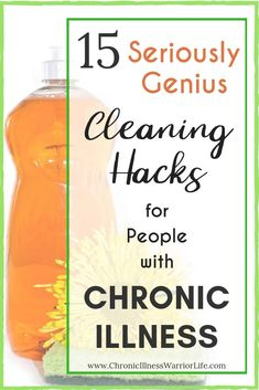Cleaning is so hard when you live with a chronic illness and I can't always afford to pay someone to clean my house. These chronic illness cleaning hacks are phenomenal. Household Cleaning Tips, House Cleaning Tips, Diy Cleaning Products, Deep Cleaning, Cleaning Hacks, Daily Cleaning, Cleaning Checklist, Cleaning Solutions, Chronic Fatigue Syndrome