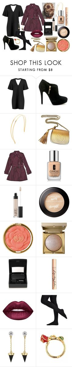 """reine.du.shopping_n°30"" by angelabalboa ❤ liked on Polyvore featuring Boohoo, MICHAEL Michael Kors, Mrs. President & Co., Gucci, Burberry, Clinique, NARS Cosmetics, Milani, Stila and Sisley"