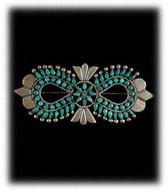 Vintage Navajo Battle Mountain Turquoise Pin