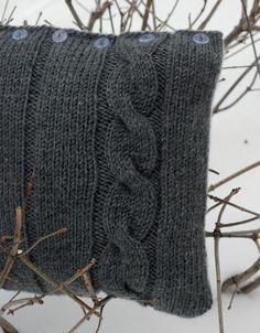 Knitting Pillow Patterns for Beginners | knitting for beginners ...like me !