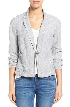 Caslon® Linen One-Button Jacket (Regular & Petite)